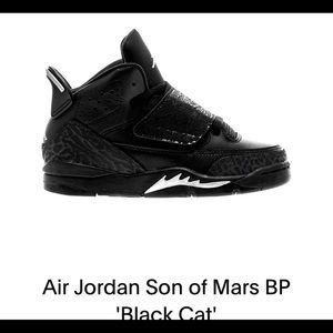 Little boys Jordan Black size 2